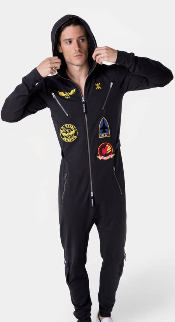 OnePiece Aviator Onesie Jumpsuit black
