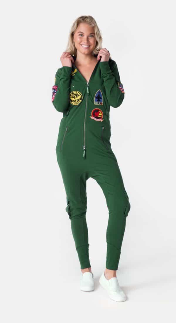 OnePiece Aviator Onesie Jumpsuit Green